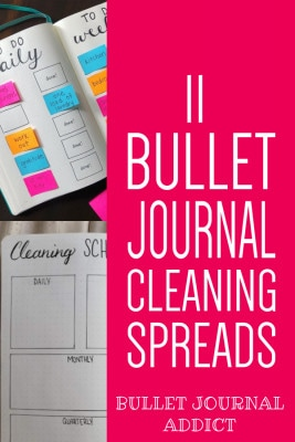 11 Bullet Journal Cleaning Spreads