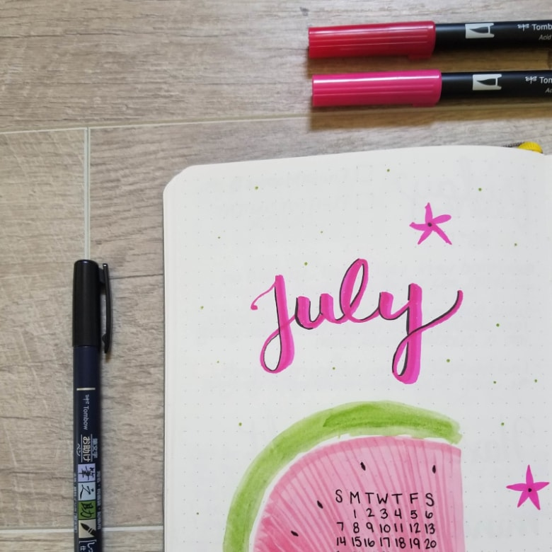 Bullet Journal Summer Theme Ideas