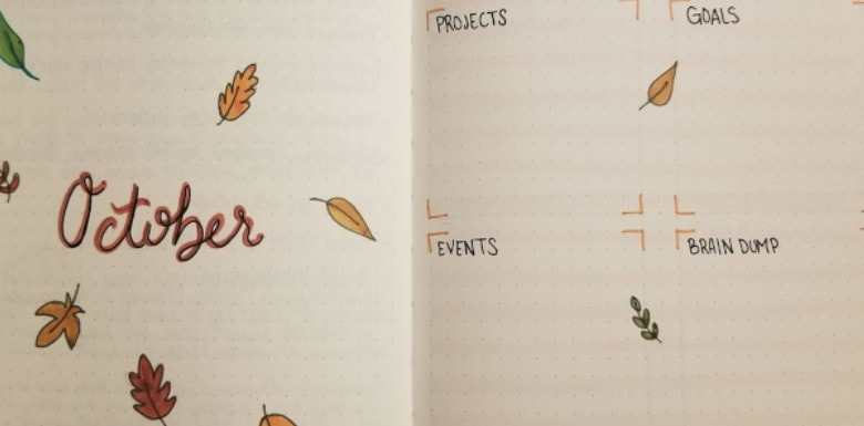 20 Bullet Journal Autumn Theme Ideas