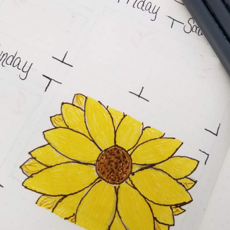 21 Bullet Journal Floral Theme Ideas