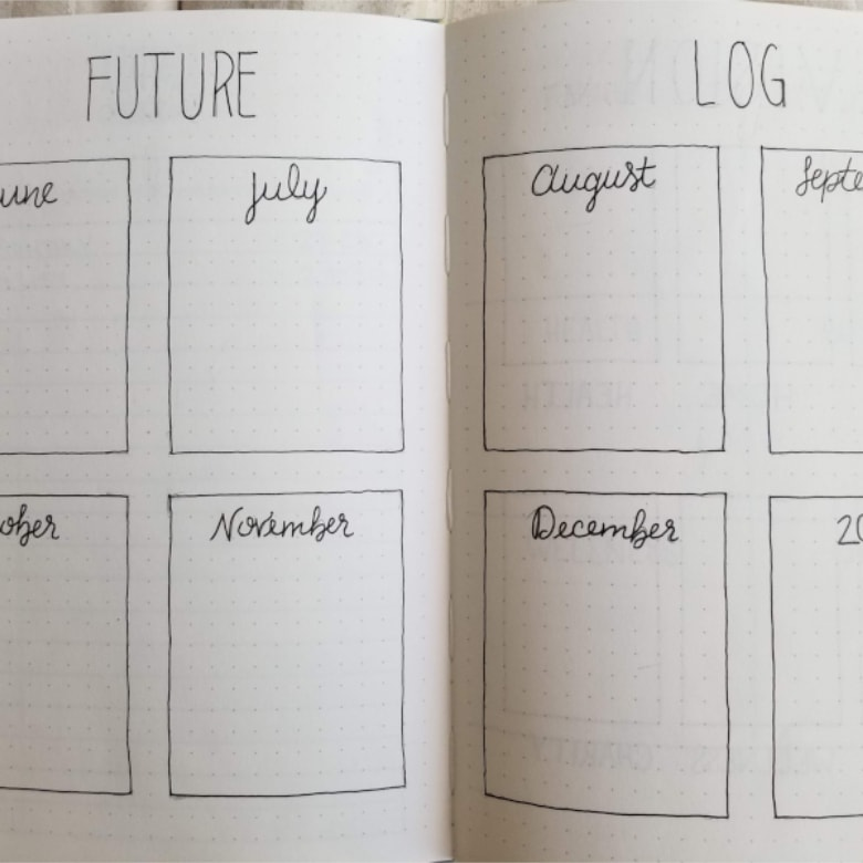 21 Bullet Journal Future Log Ideas