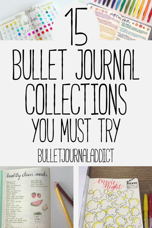 Bullet Journal Collections - Bullet Journal Inspiration for Collections to Try in Your BuJo - 15 Bullet Journal Collections You Must Try