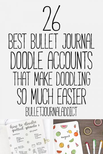 26 BEST BULLET JOURNAL DOODLE ACCOUNTS AND VIDEOS