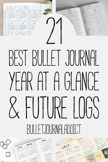 21 BEST BULLET JOURNAL YEAR AT A GLANCE SPREADS