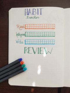 Bullet Journal Habit Tracker and Review