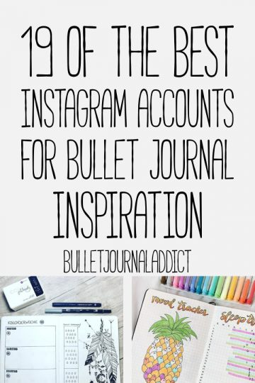 19 BEST INSTAGRAM ACCOUNTS FOR BULLET JOURNAL INSPIRATION