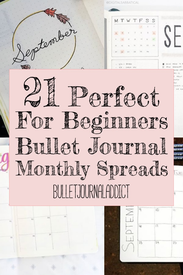 21 Perfect For Beginners Bullet Journal Monthly Spreads