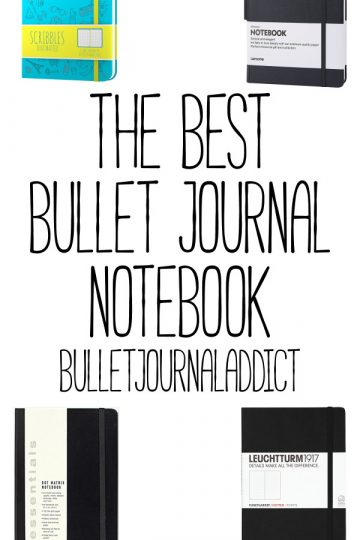4 BEST BULLET JOURNAL NOTEBOOKS