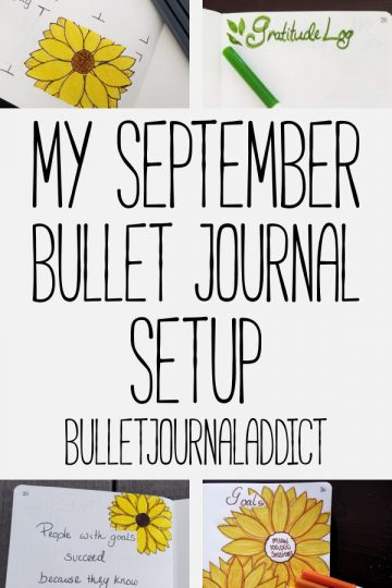 MY SEPTEMBER BULLET JOURNAL SETUP