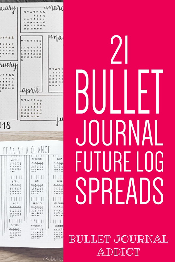 21 Bullet Journal Future Log Spreads