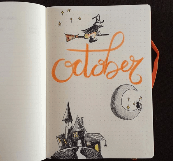 Witchy October Page Idea