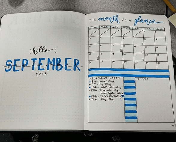 adamsbabble Two Page Monthly Spread