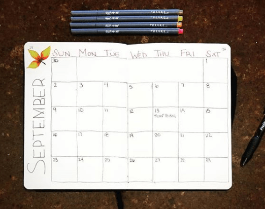 bujoaddictblog Two Page Monthly Spread