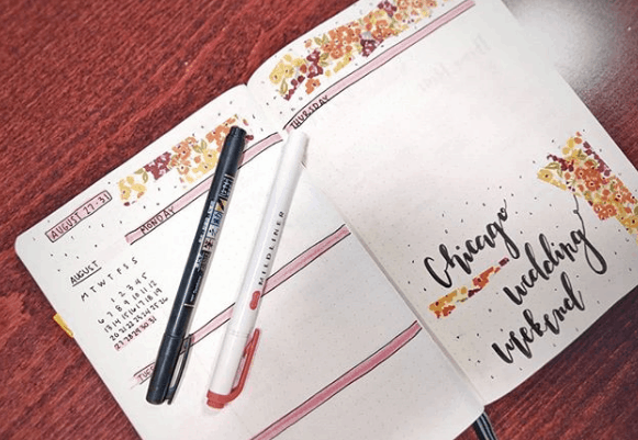 casey_crafts Fall Floral Weekly Spread