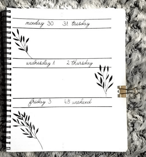 createhorcrux One Page Weekly Spread