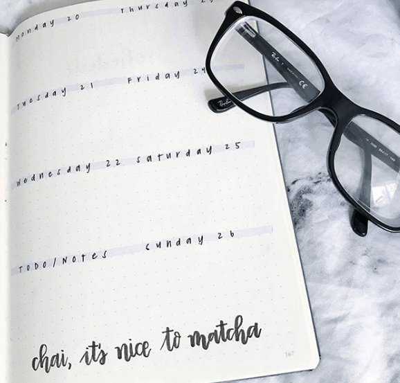 creativegorl One Page Weekly Spread