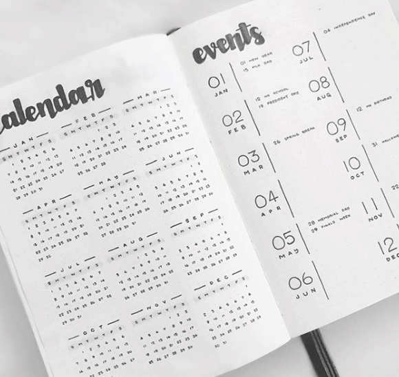 geoffstudy Minimalist Future Log