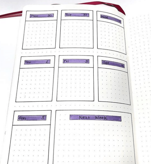 jaejalan One Page Weekly Spread
