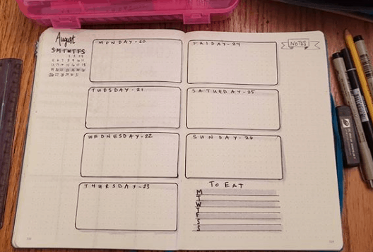 joodoboojo Two Page Weekly Spread