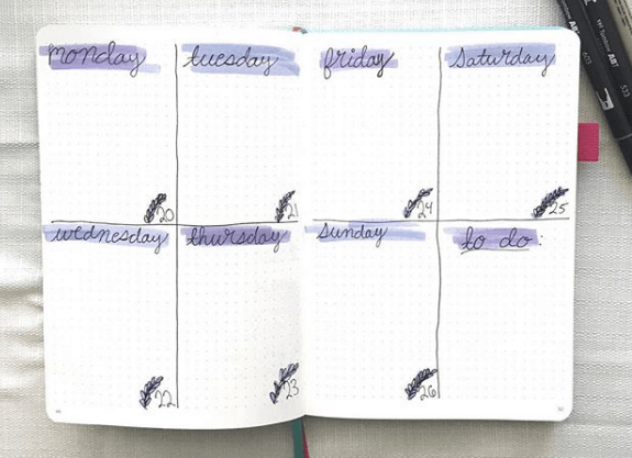 journalingjoyfully Two Page Weekly Spread