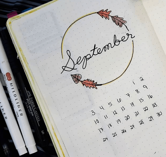 journalingwithnicole One Page Monthly Spread