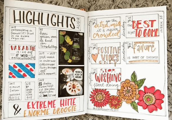 madebymathilde Colorful Floral Weekly Spread