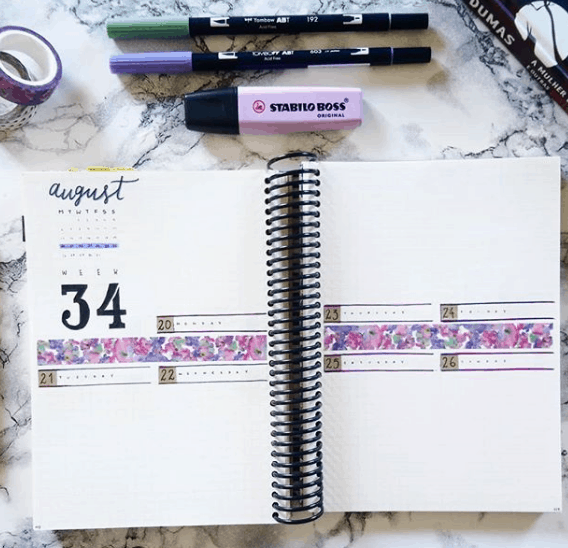 _shejournals Two Page Weekly Spread