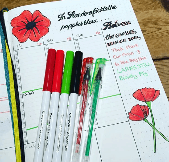 shellyosborne Poppy Theme Weekly Spread