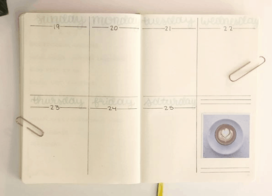 zigzagsandzebras Two Page Weekly Spread