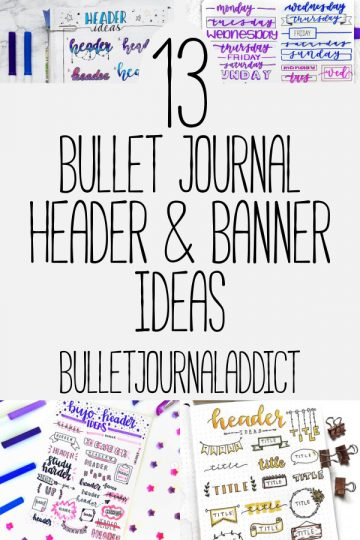 13 BULLET JOURNAL BANNERS AND HEADERS