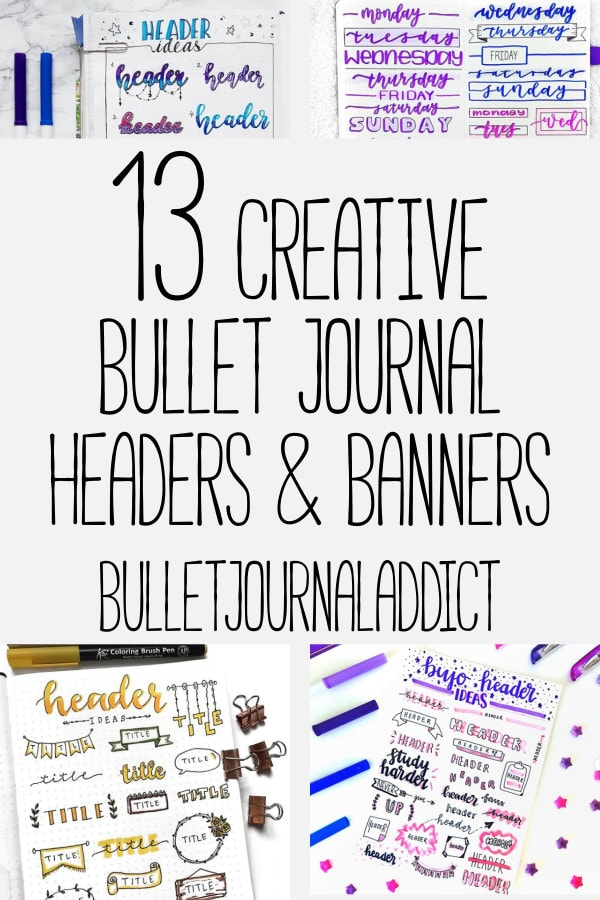 13 Bullet Journal Banners and Headers - Bullet Journal Addict