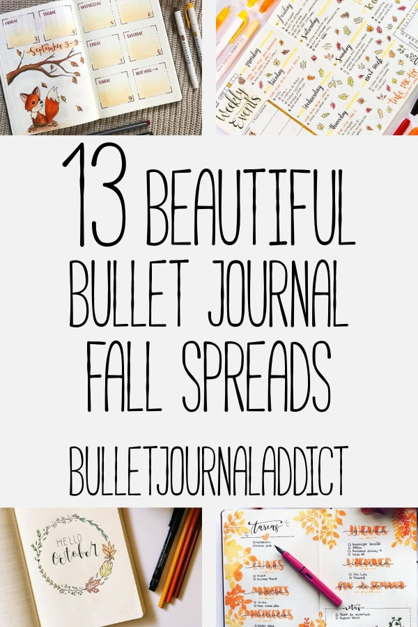 Bullet Journal Fall Spreads - Autumn Spreads, Leaf Doodles, Fall Themes for your Bullet Journal - 13 Beautiful Bullet Journal Fall Spreads