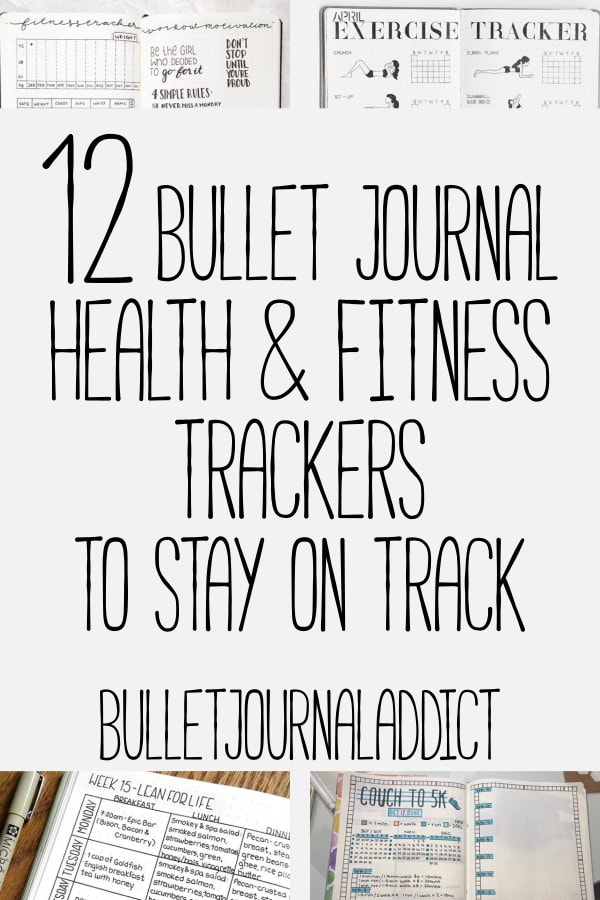 Bullet Journal Fitness Tracker - Health and Fitness Spreads To Keep You On Track - 12 Bullet Journal Health and Fitness Trackers To Stay On Track