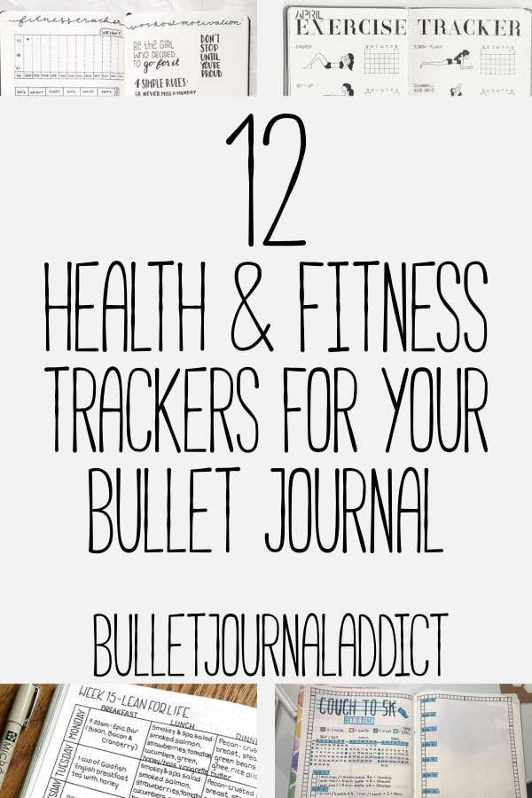 Bullet Journal Fitness Tracker - Health and Fitness Spreads To Keep You On Track - 12 Health and Fitness Trackers For Your Bullet Journal