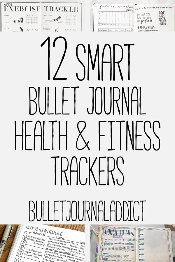 Bullet Journal Fitness Tracker - Health and Fitness Spreads To Keep You On Track - 12 Smart Bullet Journal Health and Fitness Trackers