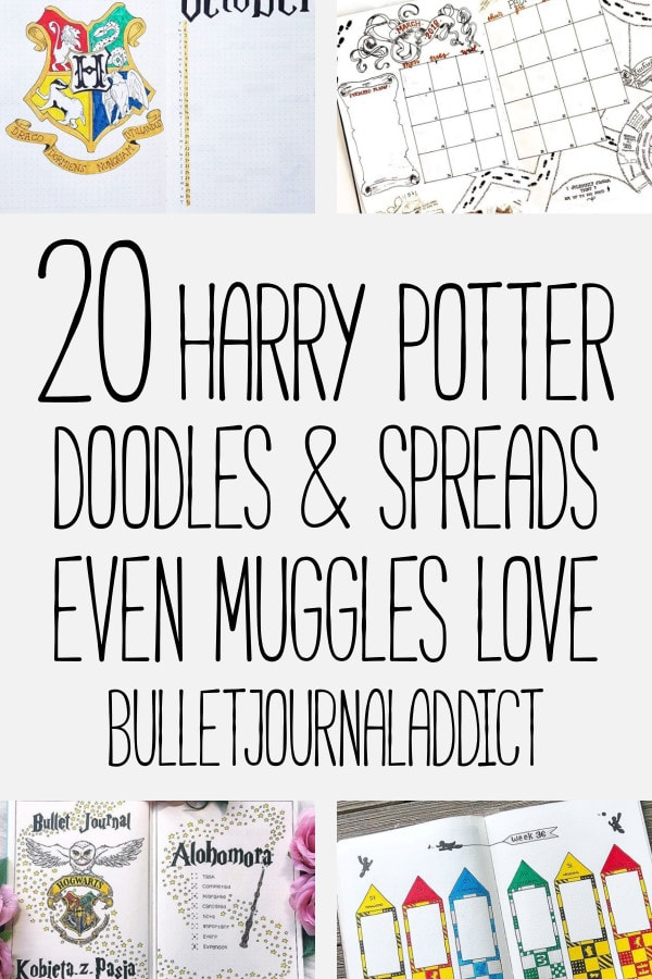 Bullet Journal Harry Potter Themes - Harry Potter Doodles and Designs for Bullet Journal Spreads and Layouts - 20 Harry Potter Doodles and Spreads Even Muggles Love