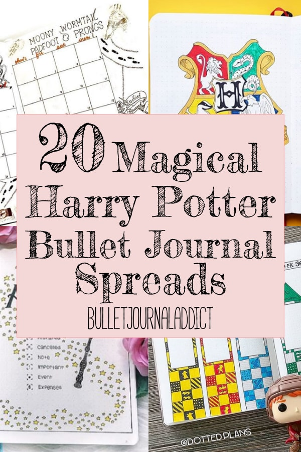 20 Magical Harry Potter Bullet Journal Spreads