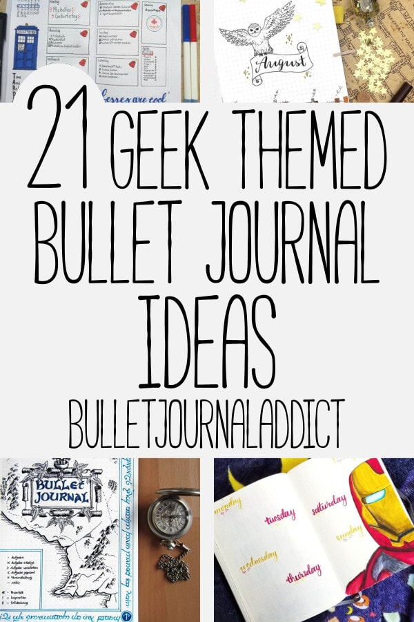 Bullet Journal Ideas For Geeks - Geek Themed Bullet Journal Ideas - Harry Potter, Avengers, Doctor Who, and More - 21 Geek Themed Bullet Journal Ideas