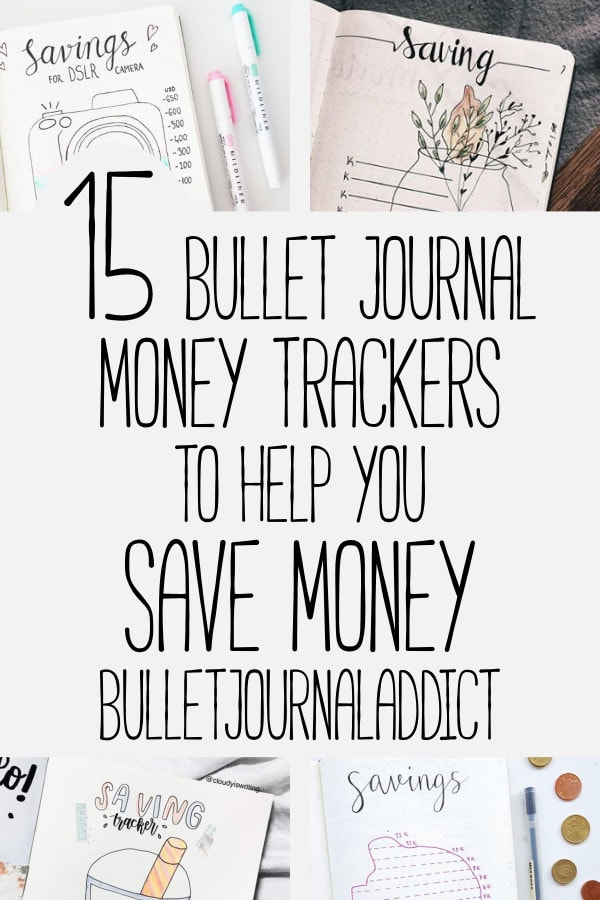 Bullet Journal Savings Tracker - Bullet Journal Spending Log - Bullet Journal Money Tracker - 15 Bullet Journal Money Trackers To Help You Save Money