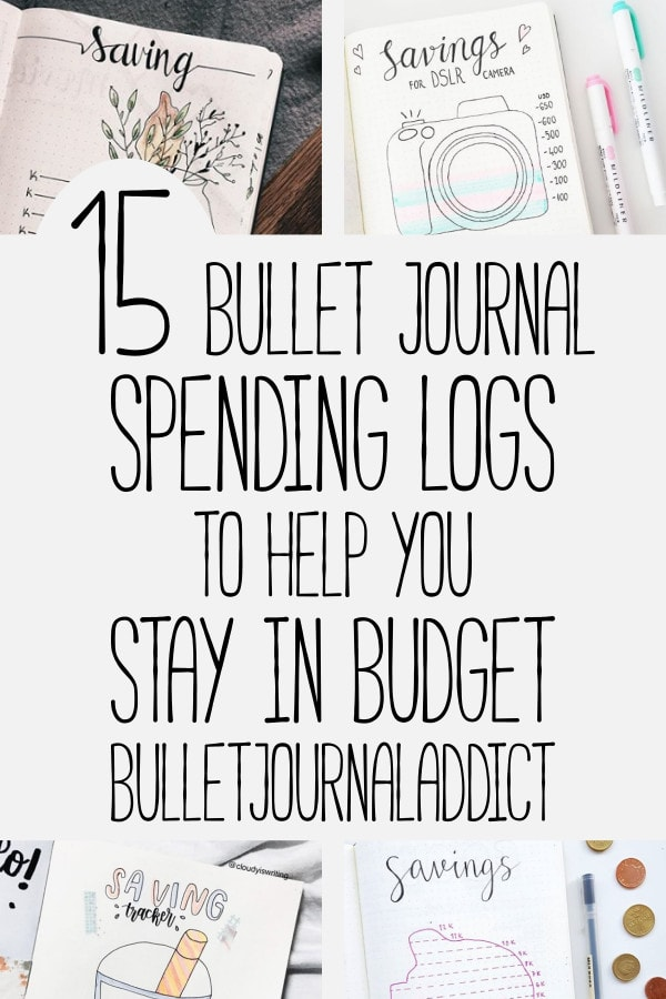 15 bullet journal money tracker ideas to help you save money bullet journal addict. Black Bedroom Furniture Sets. Home Design Ideas