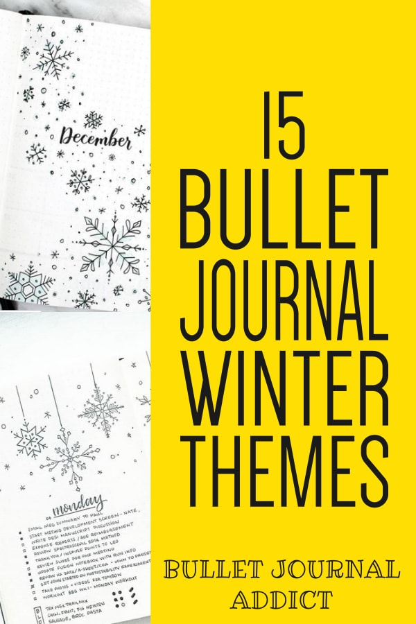 15 Bullet Journal Winter Themes