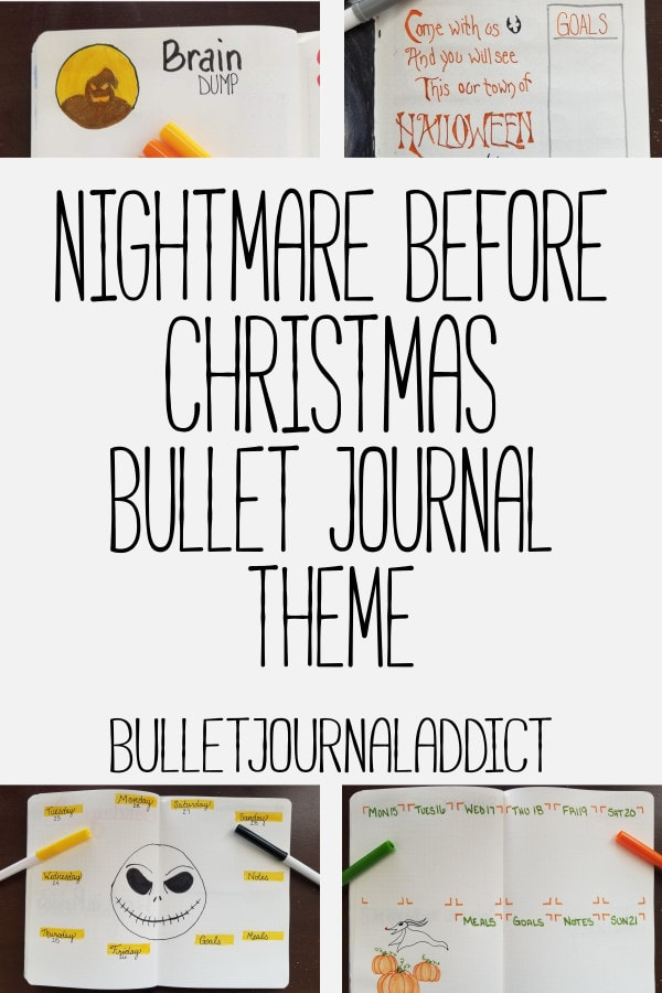 Bullet Journal Theme Ideas For Monthly Setups, Spreads, And Layouts - Nightmare Before Christmas Bujo Theme - Nightmare Before Christmas Bullet Journal Theme