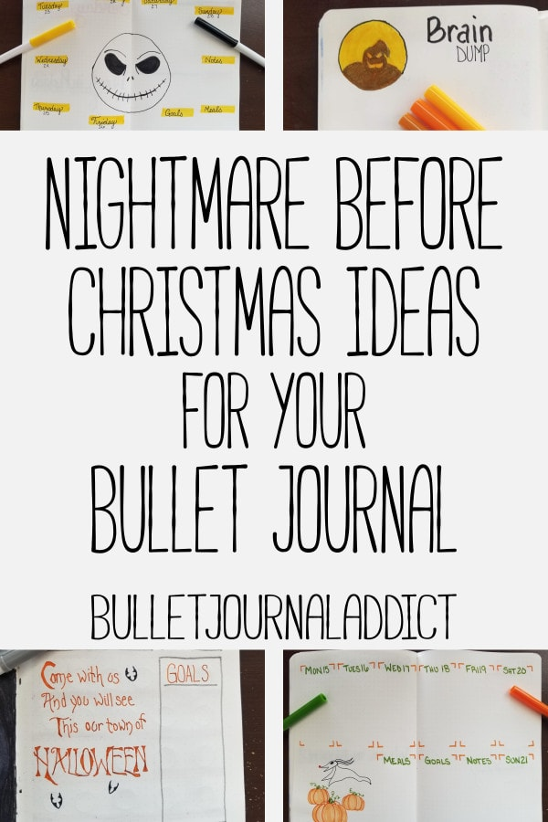 Bullet Journal Theme Ideas For Monthly Setups, Spreads, And Layouts - Nightmare Before Christmas Bujo Theme - Nightmare Before Christmas Ideas For Your Bullet Journal