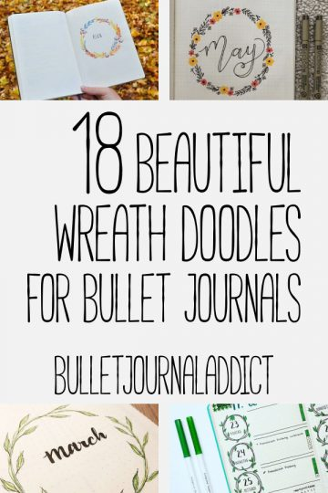 18 BEAUTIFUL WREATH DOODLE IDEAS