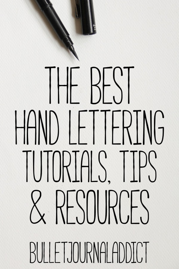 The Best Hand Lettering Tutorials - Bullet Journal Addict