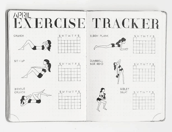 12 smart bullet journal health and fitness trackers bullet journal