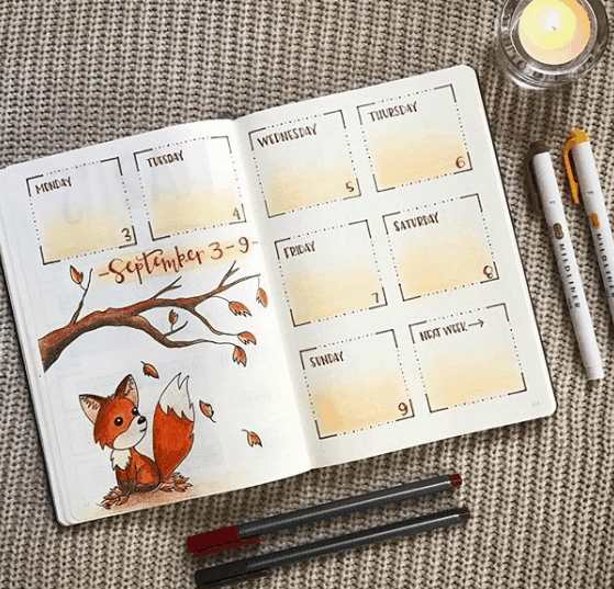authentic.ampersand Foxy Weekly Spread