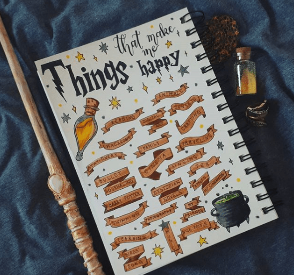 clever_cleotha Harry Potter Doodles Happy Collection