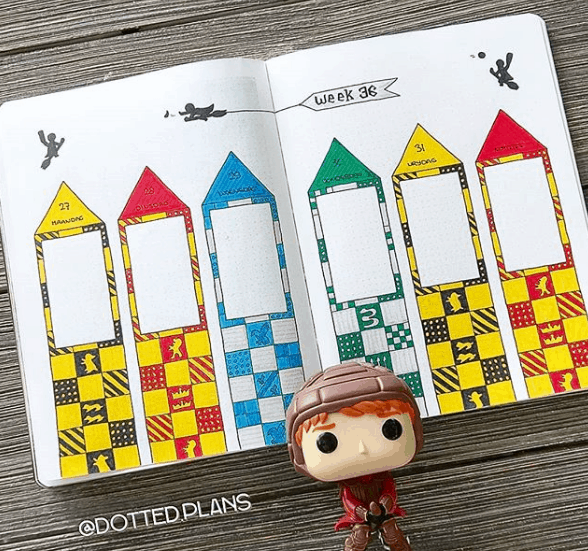 dotted.plans Quidditch Theme Weekly Spread