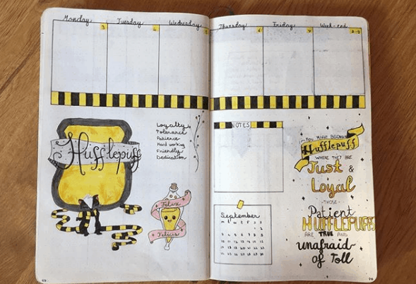 frenchie.bujo Harry Potter Weekly Spread